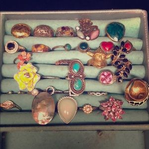 Vintage ring collection, size 8